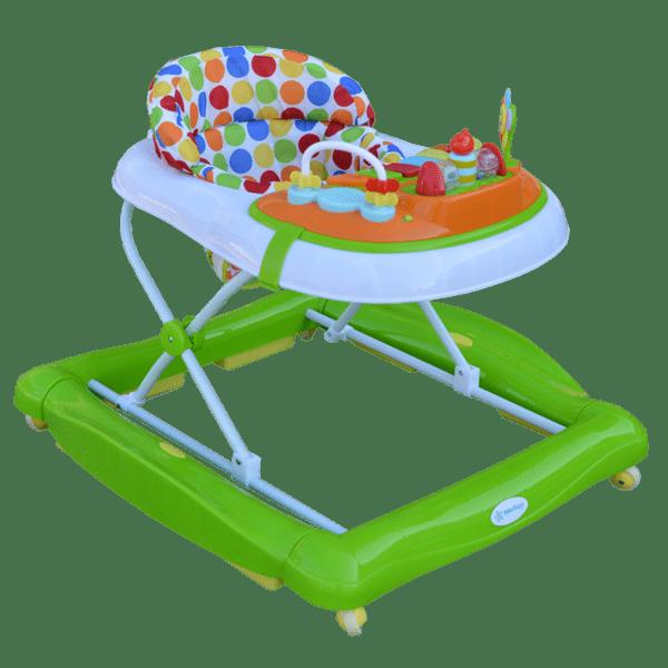 Bebe Stars Проходилка Baby Walker Play 2 в 1 зелена 4206